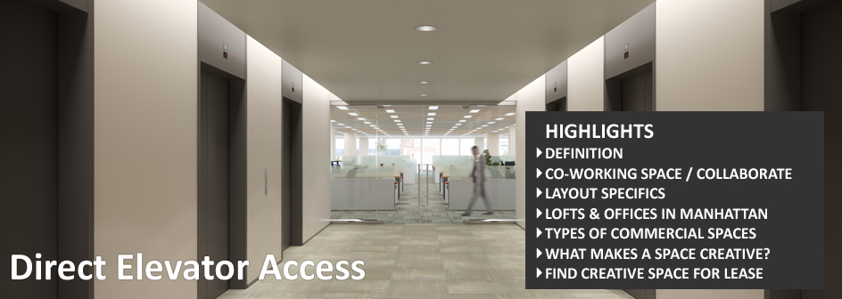 Direct Elevator Access Commercial Real Estate Definition Footer