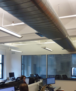 Ductwork Within Office Space