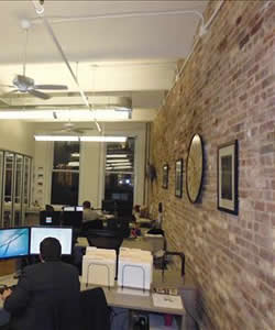 Office Loft with Brick Walls