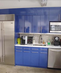 Small Blue Office Pantry