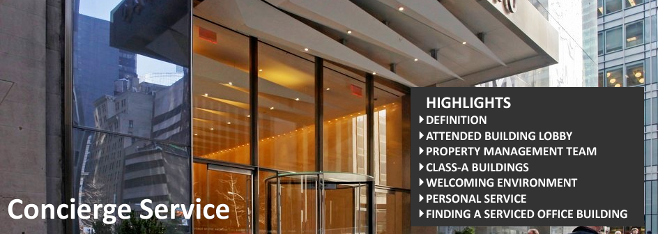 Concierge Service Commercial Real Estate Definition Footer