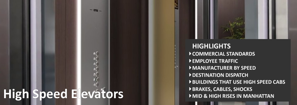 High Speed Elevator Information Footer