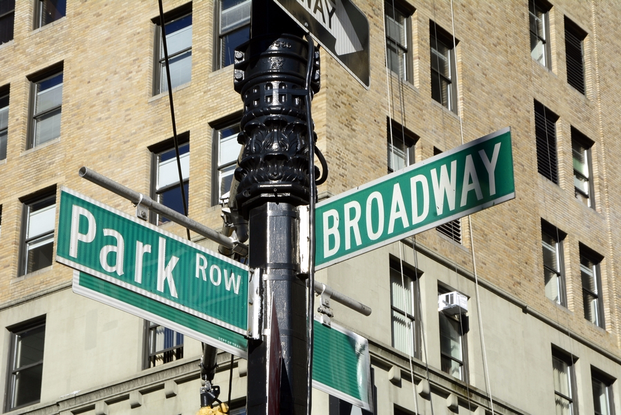 park-row-and-broadway-street-sign-landscape-photo